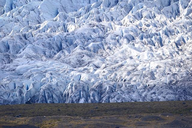 Glacier lac Jokulsarlon (Islande).