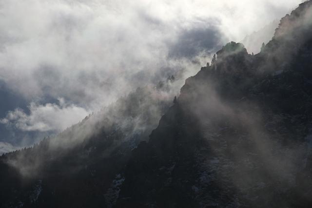 Brume dans le Haut Vallespir (Pyrénées-Orientales).